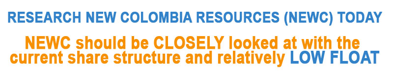 New Colombia Resources, Inc - NEWC